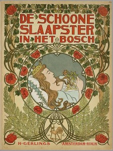 """ De schoone slaapster in het bosch"", an interpretation of the story of Sleeping Beauty. From the collection of the Koninklijke Bibliotheek."