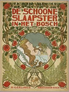 """"""" De schoone slaapster in het bosch"""", an interpretation of the story of Sleeping Beauty. From the collection of the Koninklijke Bibliotheek."""