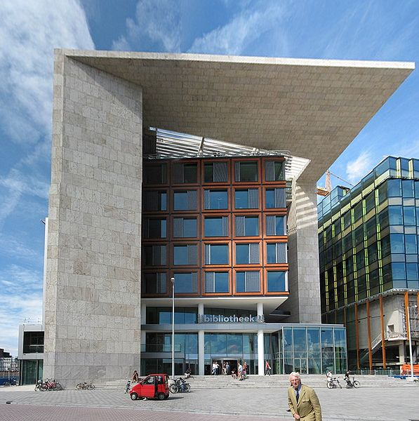 Koffie wifi de openbare bibliotheek oba in amsterdam hay kranen - Moderne bibliotheek ...